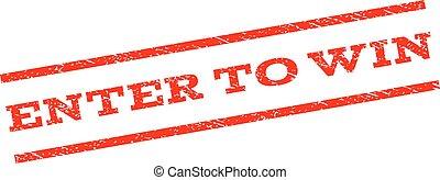 Enter To Win Watermark Stamp