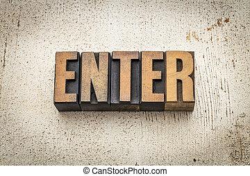 enter word in wood type - enter word in vintage letterpress...