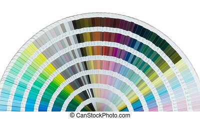 Enter you sign in blank black space in the end of rotation of Color chart