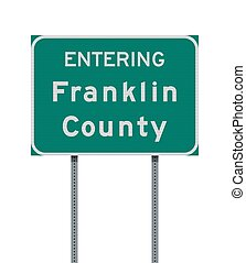 Entering Franklin County Ohio road sign