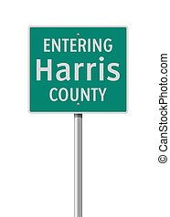 Entering Harris County road sign