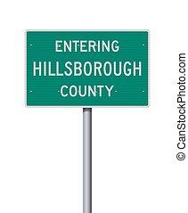 Entering Hillsborough County road sign