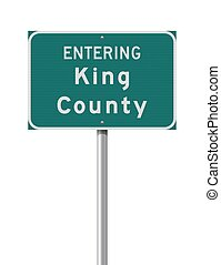 Entering King County road sign