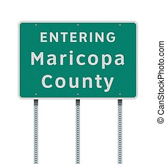 Entering Maricopa County road sign