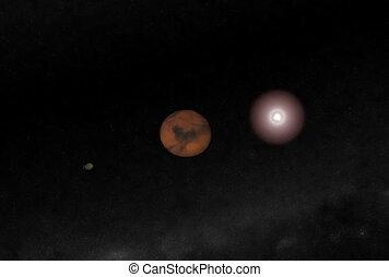 Entering Mars Orbit. CG. ntsc