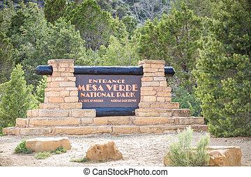 Entering Mesa Verde National Park, USA - Entering Mesa Verde...