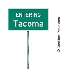 Entering Tacoma road sign