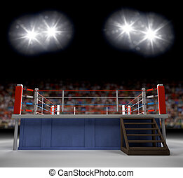Entering the Ring - A 3d generated professional boxing ring...