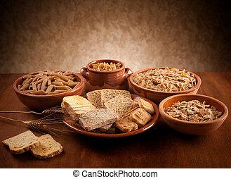 entero, carbohidratos, grano