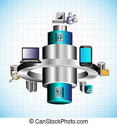 Enterprise Application Integration - Vector Illustration of...