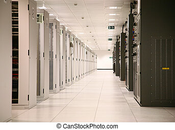 Enterprise Data Center - Server Racks at Data Center