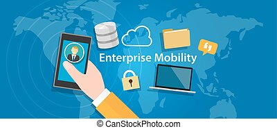 enterprise mobility connected everywhere company working...