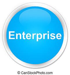 Enterprise premium cyan blue round button