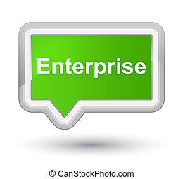 Enterprise prime soft green banner button