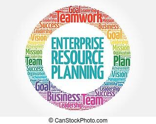 Enterprise Resource Planning circle word cloud
