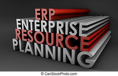 Enterprise Resource Planning ERP 3d Concept Art