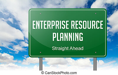 Enterprise Resource Planning on Highway Signpost.
