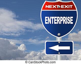 Enterprise road sign