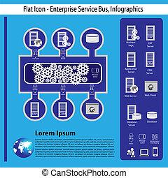 Enterprise technology infographics - Enterprise application...