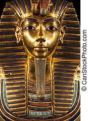 enterrement, masque, tutankhamun's