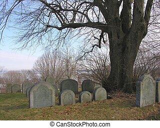 enterrement, plymouth, colline, massachusetts