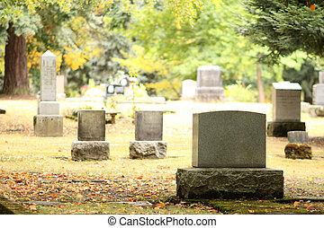 enterrement, site