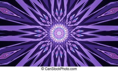 Shining Multi Shape Violet Design 4k uhd 3d rendering vj loop