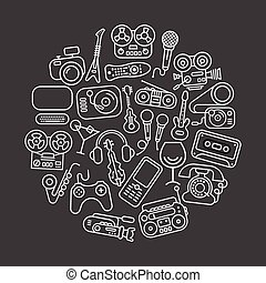 Entertainment and Home electronics icons