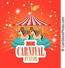 entertainment carnival funfair banner