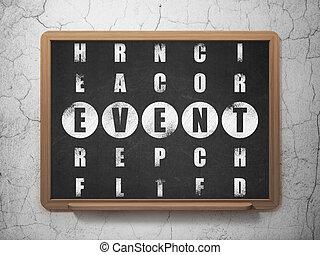 Entertainment, concept: Event in Crossword Puzzle