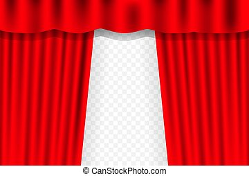 Curtain With Drape Stage Theatre Fabric Red Curtains Elegant Decor Drapes For Entertainment Vector Template Canstock