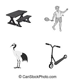entertainment, ecology, nature and other monochrome icon in cartoon style. transport, children, business, icons in set collection.