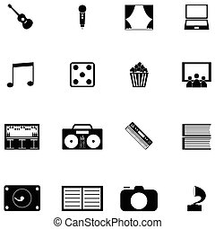 entertainment icon set