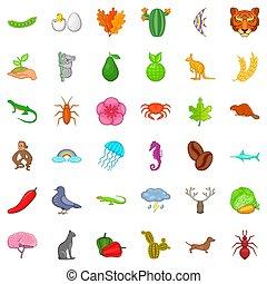 Entertainment icons set, cartoon style - Entertainment icons...