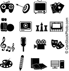 Entertainment icons set