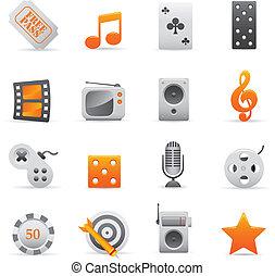 Entertainment Icons | Yellow 03