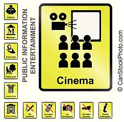 Entertainment Information Signs