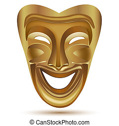 entertainment mask - illustration of entertainment mask on...