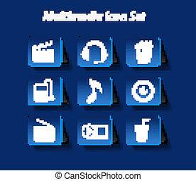music icon set design