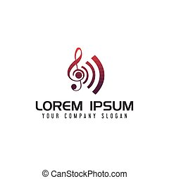 Entertainment music tone logo design concept template