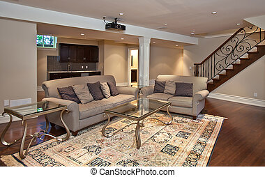 Entertainment room - Modern home entertainment room in the...