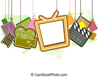 Entertainment Items with Clipping Path