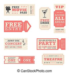 Entertainment Tickets - A set of tickets for entertainment ...
