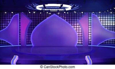 Entertainment TV Studio Set- 04