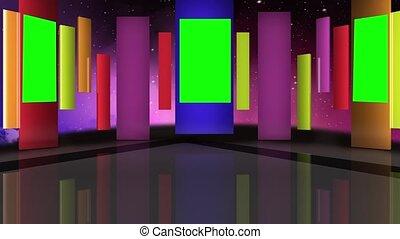 Entertainment TV Studio Set- 07