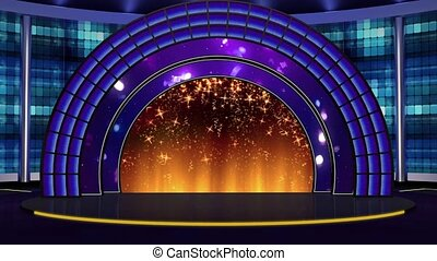 Entertainment TV Studio Set