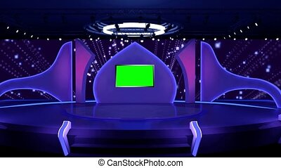 Purple background with shinning particles for TV Program with Entertaiment programme theme. seamless loopable HD video