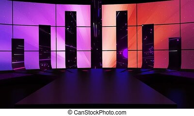 Stars And Streak Line Dancing Backgrounds for TV Program with Entertaiment programme theme. seamless loopable HD video.
