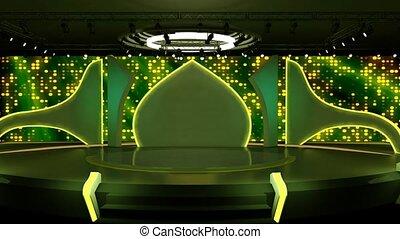 Entertainment TV Studio Set 72- Virtual Green Screen ...