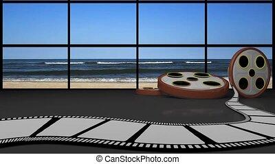 Entertainment TV Studio Set -
